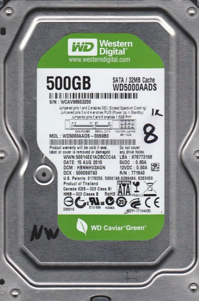 WD Green 3.5 500GB 7200RPM 32MB SATA WD5000AADS