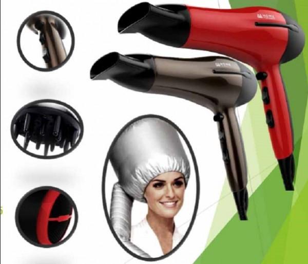 Home Electronics Fen za kosu HD-22001R (crveni) + kapa za sušenje kose
