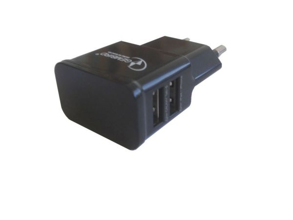 GEMBIRD NPA-AC21 punjac za telefone i tablete 5v 2.1A+1A dual USB BLACK + micro USB kabl 1M