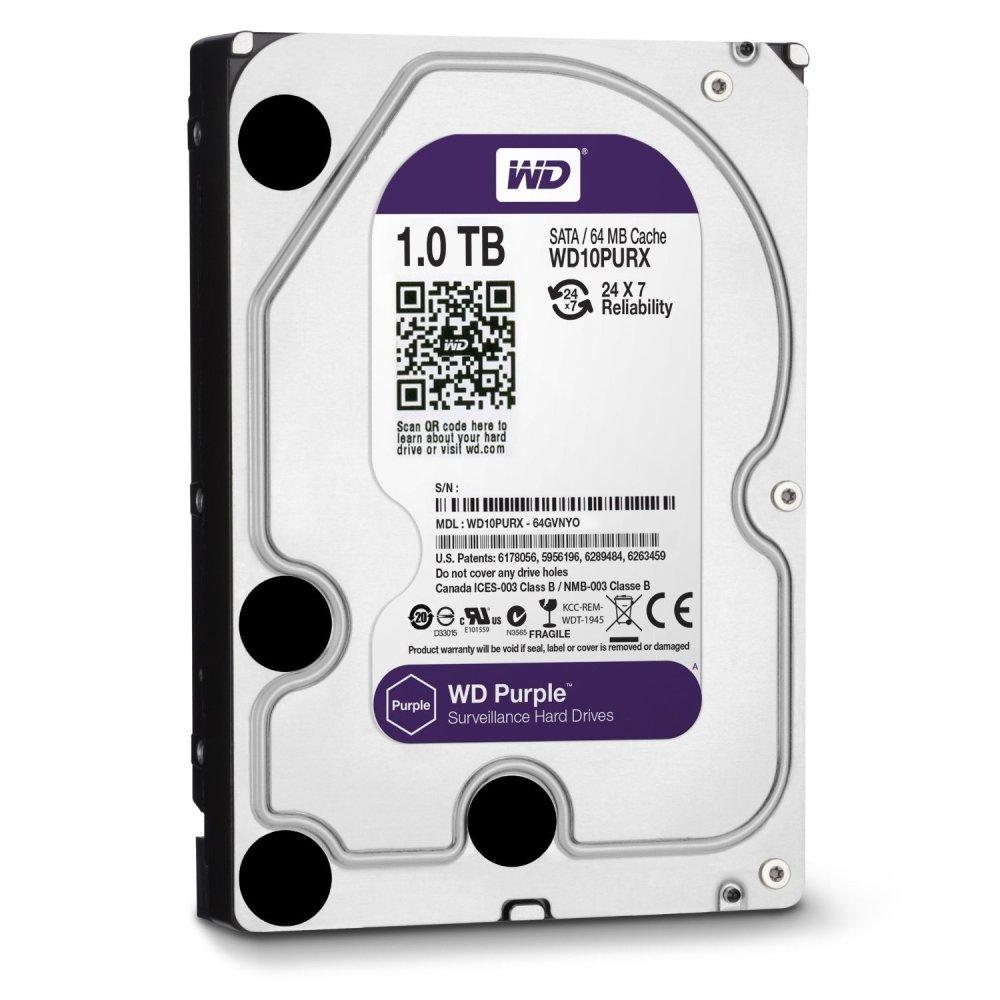 WD SATA HDD 1TB Purple (WD10PURZ)
