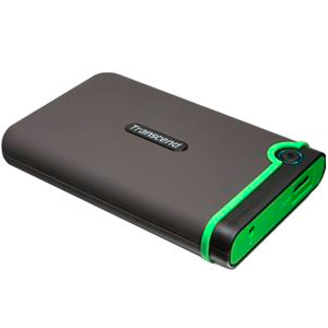 Transcend External HDD 1TB M3 Serie USB3.0 Gray/Green TS1TSJ25M3