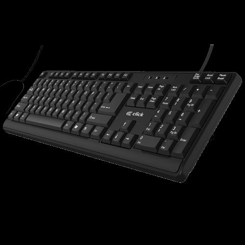 Click K-L0 Tastatura žičana USB, US, crna