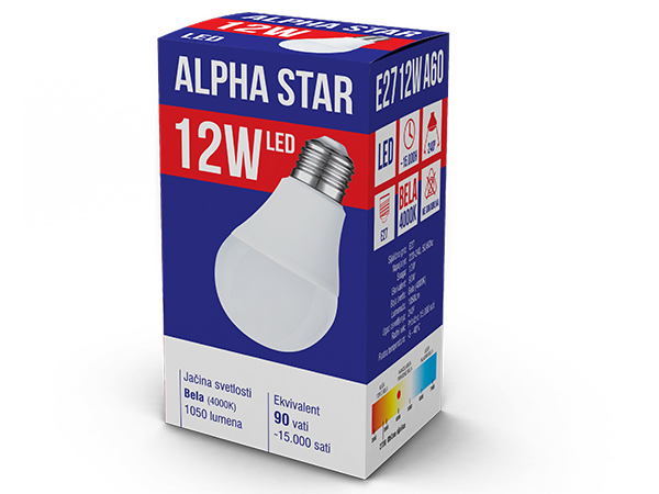 Alpha Star Led sijalica E27-12W Bela 4000K