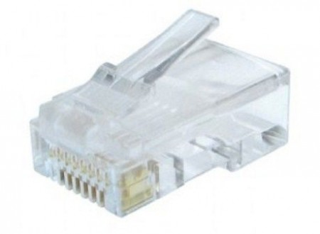Gembird LC-8P8C-002 Modular plug 8P8C 30u gold plated for solid CAT6 LAN cable  (AWG 23)