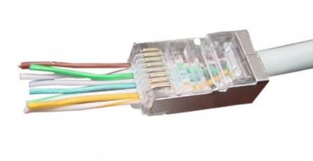 Gembird LC-PTF-01/10 Universal pass-through modular FTP plug 8P8C (10kom u pakovanju)