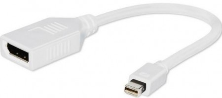 Gembird A-mDPM-DPF-001-W Mini DisplayPort (male) to DisplayPort (female) adapter white