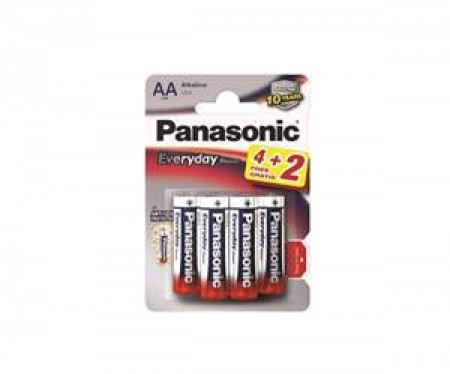 PANASONIC baterije LR6EPS/6BP -AA 6kom, Alkaline Everyday po