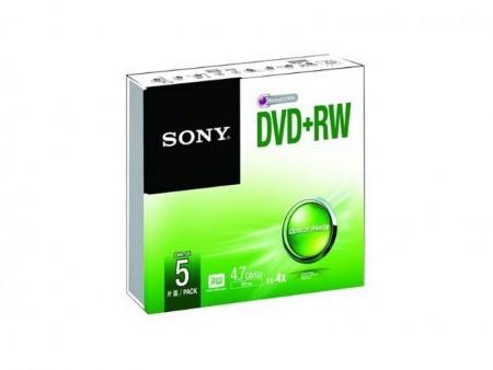 Sony DVD+RW diskovi (5 u pakovanju)