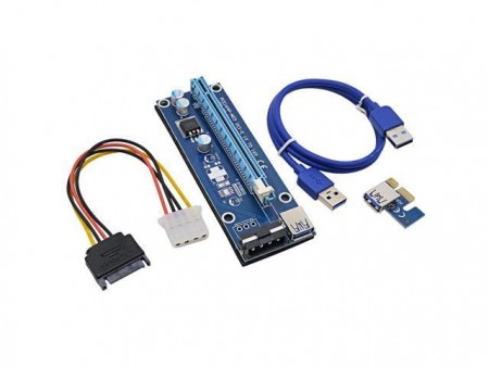 NoNAME PCE164P-N03 adapter PCIe 1x 16x VER 006C