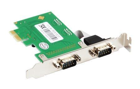 Intellinet (RS232,DB-9) PCIE 2X serial port Kontroler