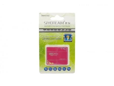 Citac kartice SYOTEAM SY-682 roze