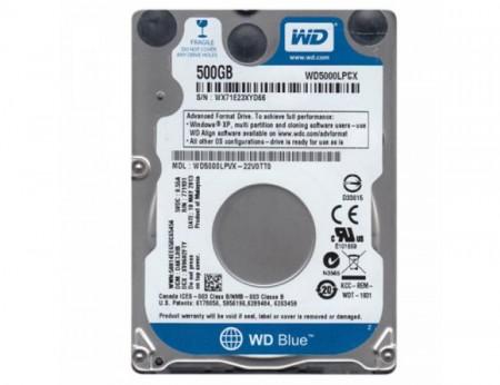 WDBlue 5000LPCX Kapacitet 500GB, SATA3, 32 MB, 2,5, 5.400 rpm, 7 mm