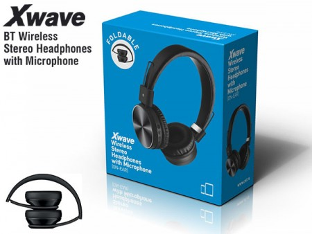 Xwave MX250 black BT stereo slusalice sa mikrofonom