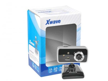 Xwave Web camera USB 2.,/1.3 meg pixel/snap shot/built-in mic./LED Lights