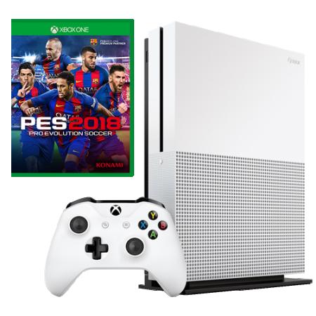 XBOXONE S Console 1TB White + PES 2018 (  )