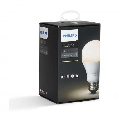 Philips E27 (44957800) 9W Single Bulb White A60