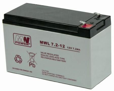 MW Power MWS 7.2Ah 12V Baterija za UPS