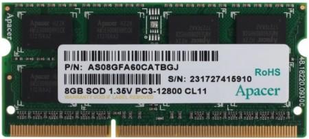 Apacer (AS08GFA60CATBGJ) 8GB 1600MHz SODIMM DDR3