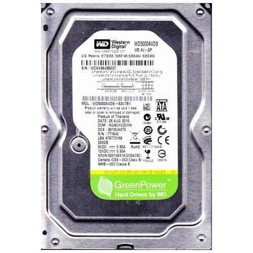 WD 500GB+ 3.5 SATA II 32MB IntelliPower WD5000AVDS AV-GP (Green Power)