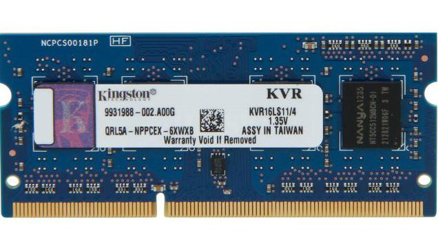 Kingston SO-DIMM DDR3 4GB 1600MHz KVR16LS11/4