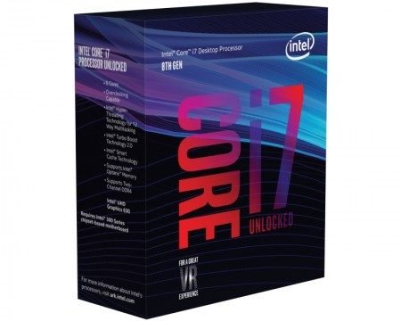 INTEL Core i7-8700K 6-Core 3.7GHz (4.7GHz) Box LGA1151