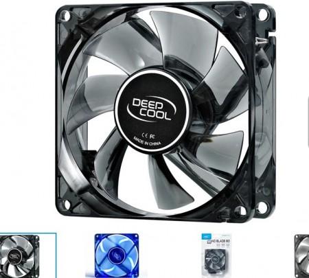 DeepCool WINDBLADE80 80x80x25mm ventilator BLUE LED  hydro bearing 1800rpm 21CFM 20dBa