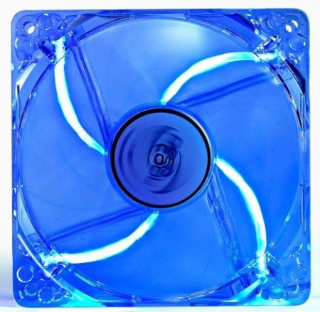 DeepCool XFAN120L/B 120x120x25mm ventilator transp-blue LED light hydr bearing 1300rpm 44.71CFM 26dB