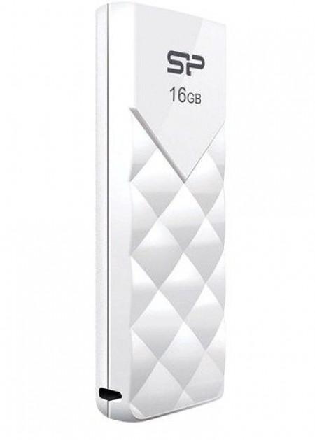 SiliconPower U03 16GB USB 2.0 WHITE, Elegant,SP016GBUF2U03V1W