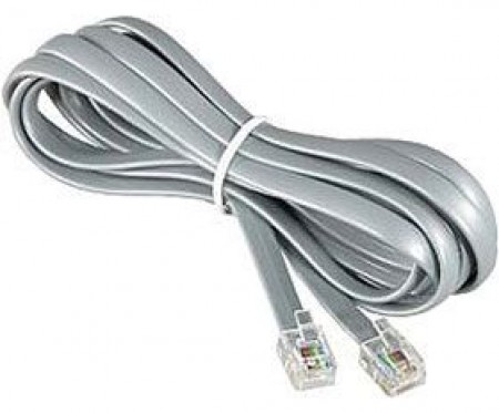 TC6P4C-2M Gembird Telefonski kabl 2m White