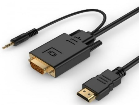 A-HDMI-VGA-03-10 Gembird HDMI to VGA and audio adapter cable, single port, 3m, black