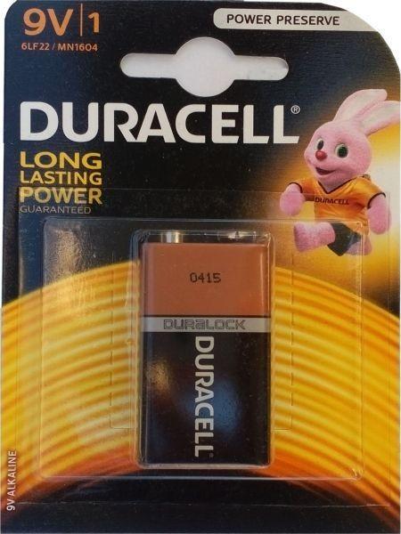 Duracell 9V 6LF22 MN1604, PAK1 CK, ALKALNE baterije