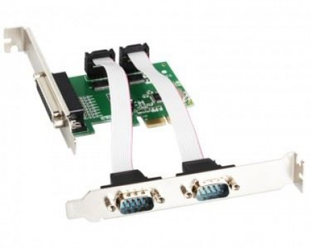 PCI Express Kontroler E-green 2x Serial + 1 Parallel