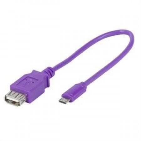 Adapter USB AmicB Vv OTG Purple