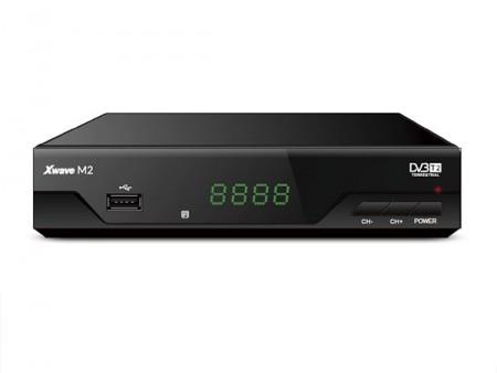 Xwave M2 DVB-T2 Set Top Box metalno kuciste LED displey