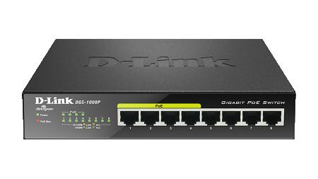 D-Link DGS-1008D/E 8-Port 10/100/1000Mbps Gigabit Unmanaged Switch