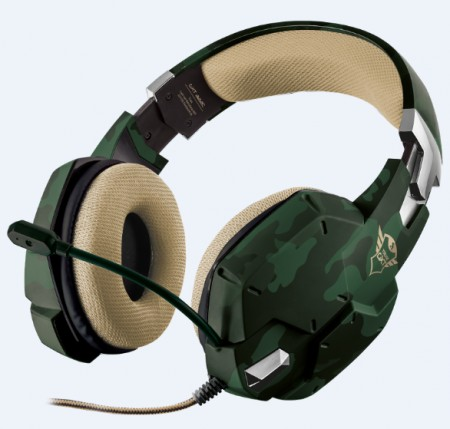 Trust Gaming GXT 322C Carus Jungle Camo Headset maskirni-zeleni