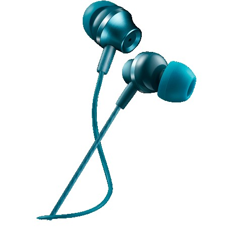 CANYON Stereo earphones with microphone, metallic shell, 1.2M, blue-green (CNS-CEP3BG)