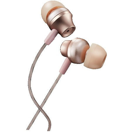 CANYON Stereo earphones with microphone, metallic shell, 1.2M, rose (CNS-CEP3RO)