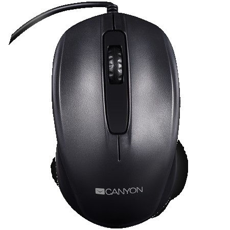 CANYON Optical wired mice, 3 buttons, DPI 1000, Black (CNE-CMS01B)
