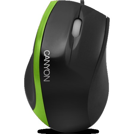 Input Devices - Mouse Box CANYON CNR-MSO01N (Cable, Optical 800dpi,3 btn,USB), BlackGreen (CNR-MSO01NG)