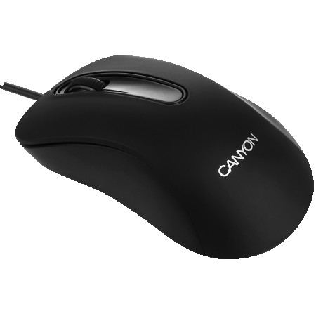 CANYON Mouse CNE-CMS2 (Wired, Optical 800 dpi, 3 btn, USB), Black (CNE-CMS2)