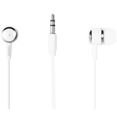 CANYON Stereo earphones with microphone, White (CNE-CEPM01W)