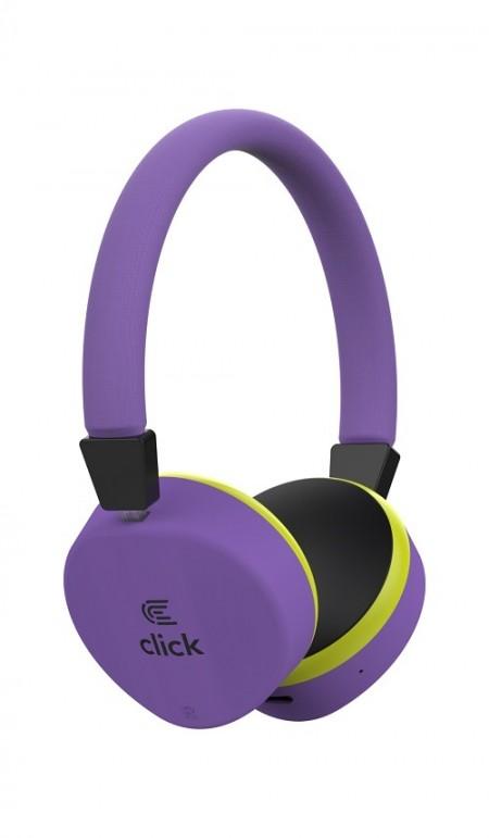 Click BH-L2-PU Slušalice bluetooth, sa mikrofonom, ljubičaste