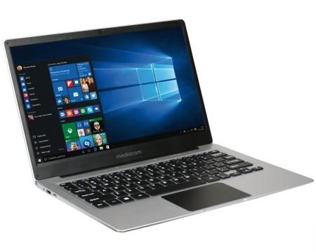 MEDIACOM SmartBook SB142 14 FHD Intel Atom x5-Z8350 Quad Core 1.44GHz (1.92GHz) 4GB 32GB eMMC Windows 10 Home 64bit srebrni