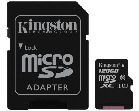 KINGSTON UHS-I MicroSDHC 128GB 80R class 10 SDCS128GB + adapter