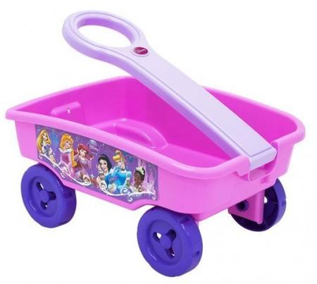 Plastična kolica za spremanje i prevoženje igračaka. Kolica imaju ručku za koju ih dete može vući. Motiv: Disney princeze. Dimenzije artikl