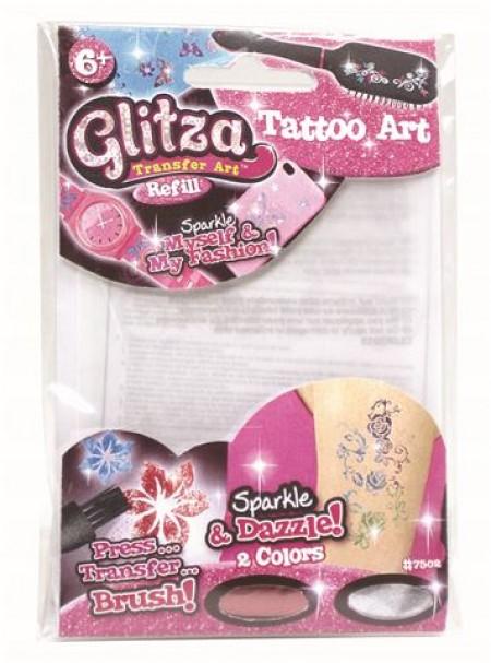 Zablistaj sa Glitza mini setom šljokičastih tetovaža. Izaberi svoj dizajn i prenesi na svoju kožu, mobilni, odeću, traku za kosu i još mnog