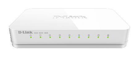 D-Link DlinkGO 8-Port Gigabit 10/100/1000Mbps Desktop Switch GO-SW-8G