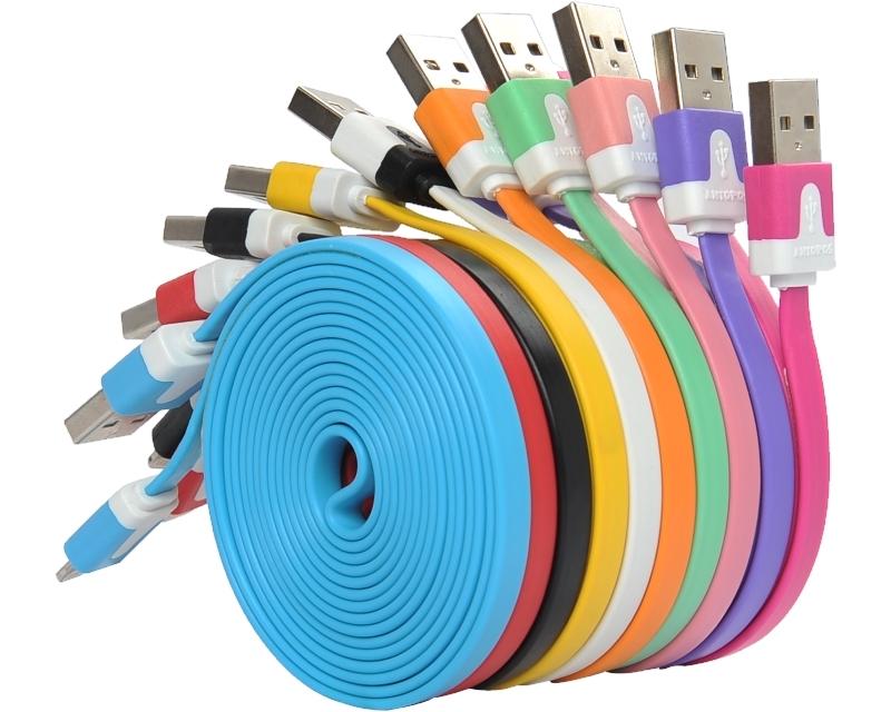 FAST ASIA Kabl USB A - USB Micro-B MM 1m flat narandžasti