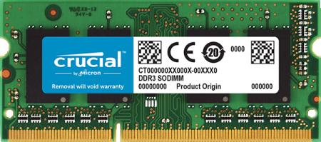 Crucial CT102464BF160B DDR3L SO-DIMM 8 GB 1600MHz